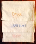 hand embroidered burp cloths