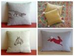 hand made linen & wool pillows